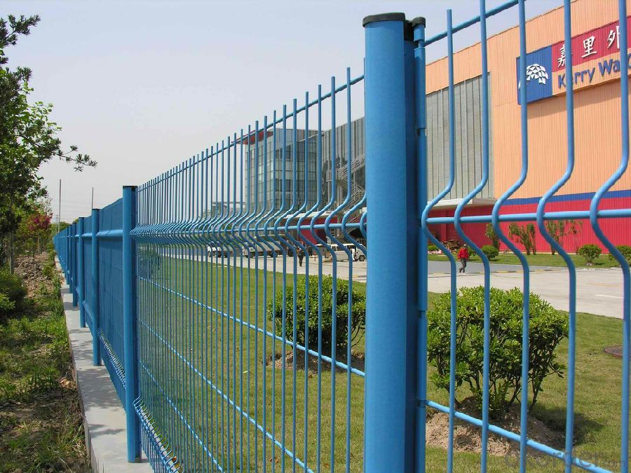 PVC Coated Curved Metal Wire  Mesh  Fence