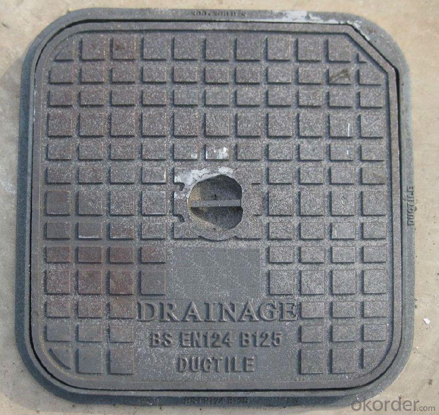 Manhole Covers EN124 Ductile Iron GGG50 Bitumen Coating