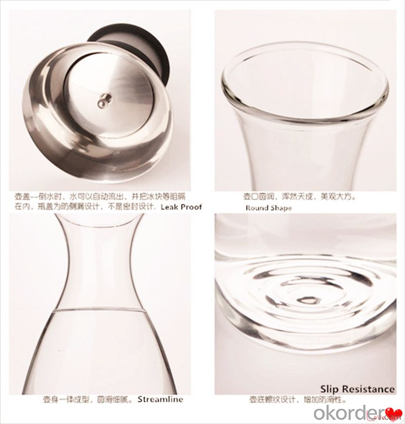Glass Pot Manufacturer High Borosilicate Glass with Drink Pot 1000ml