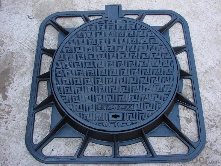 Manhole Covers EN124 GGG40 Ductule Iron D400 Bitumen