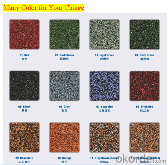 Stone Coated Metal Roofing Tile Red Green Yellow Blue Black Color Factory