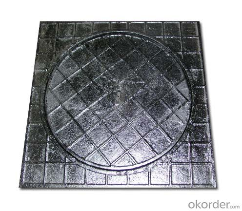 Manhole covers EN124 GGG40 ductule D400 Bitumen Coating