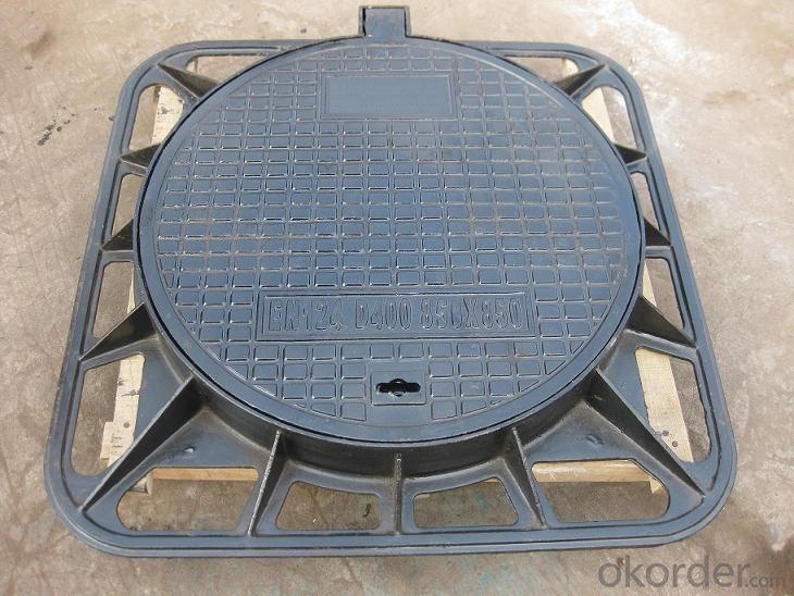 Manhole Covers EN124 Ductule Iron B125 Bitumen Coating
