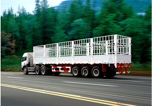 Semi Steel Trailer Cement Container Delivery