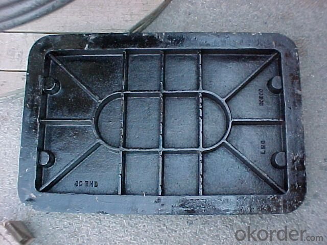 Manhole Covers DCI EN124 Black Bitumen Coating On Sale