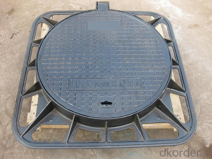 Manhole Covers Ductile Cast Iron Black Bitumen Coating Sanitary