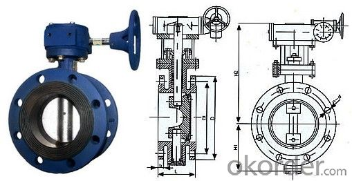 Butterfly Valves Ductile Iron  Wafer Type DN500