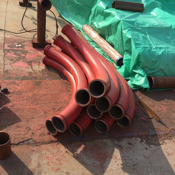 Concrete Pump Delivery Bend with Flange Ends