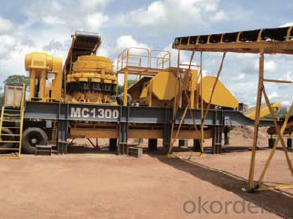 Mobile Impact Crusher Station for Construction Waste