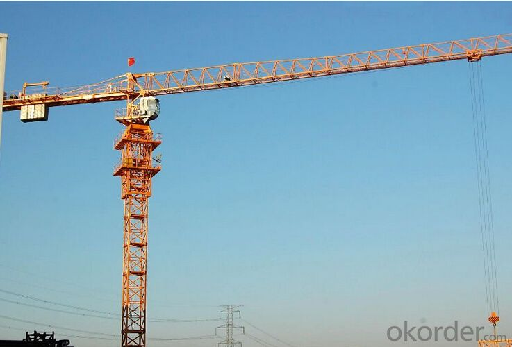 Toples Tower Crane TCP5020 With Jib length of  50M Max Load Capacity of 8 Ton