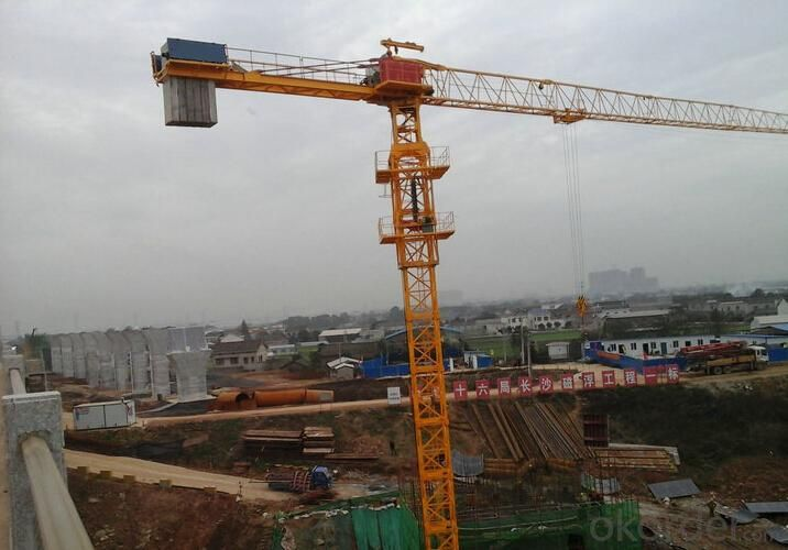 Toples Tower Crane TCP5210 With Jib length of  52M