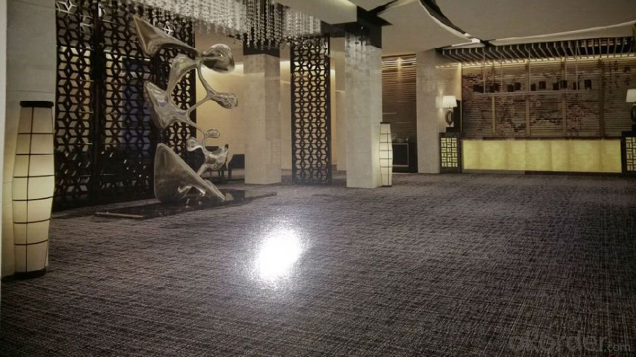 Woven PVC Decorative Vinyl Flooring for Hotel / Home
