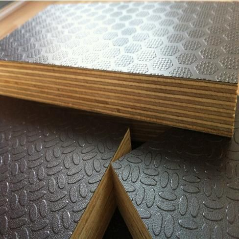 Rice Design Anti-Slippery Film Faced Plywood Brown Color