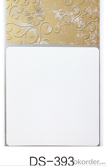 2015 New Design And Hot Sale Hot Stamping PVC Panel