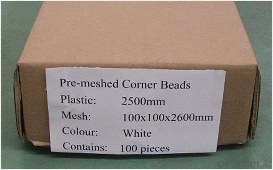 Fiberglass Mesh with PVC Corner Bead, 90gr, 110gr