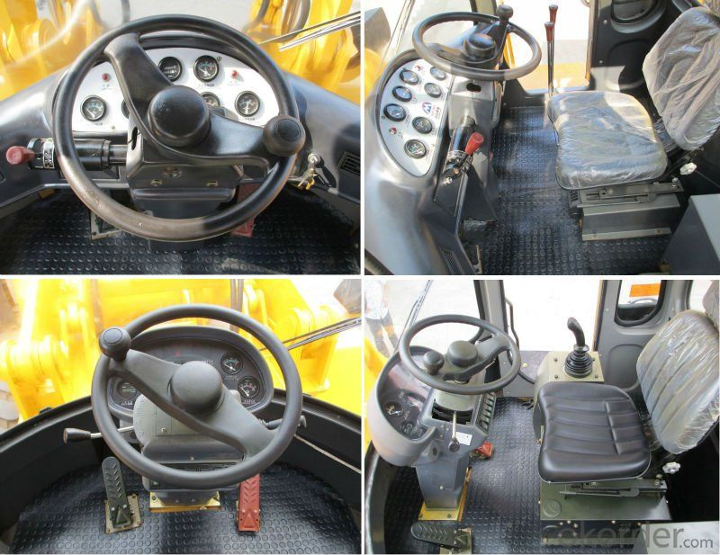 5ton,3m3 powerful performance wheel loader GK956 (Cummins,joystick,A/C)