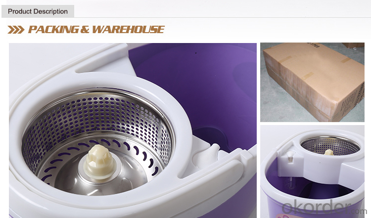 2015 Hand Press Spin Mop and Bucket  for Home