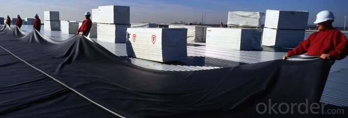 EPDM Rubber  Waterproof Membrane Width 1.2m Thickness1.2mm and 1.5mm