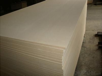 Raw MDF Plain MDF Board Light Color Size of 1220X2440X8MM