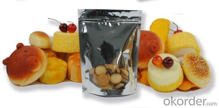 Sliver Stand up Pouch with Window Clear for Food packing