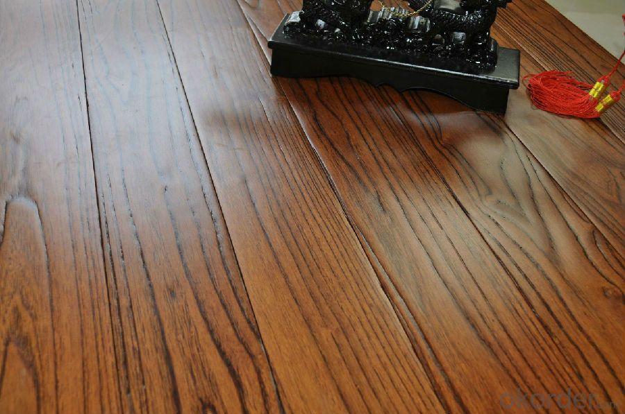 Diamond Teak Antique Relief A Grade Pure Antique Solid Wood Floor