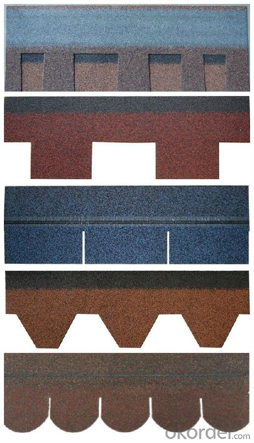 Discount, Cheap Asphalt Roof Shingle, Different Style, Villa and House Use