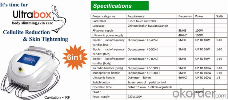 Beauty Equipment Slimming Machine Cavitation RF System