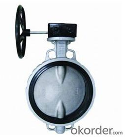 Butterfly Valve DN80 Turbine Type with Hand Wheel BS Standard