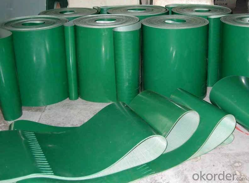 PVC PU Endless Conveyor Belt High Tensile Green White Flat Belt