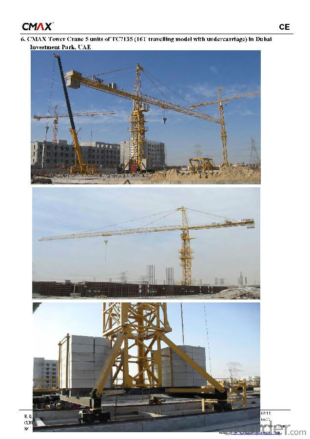 New Used Topkit/Inner-Climbing Tower Crane Building Machinery for Sale