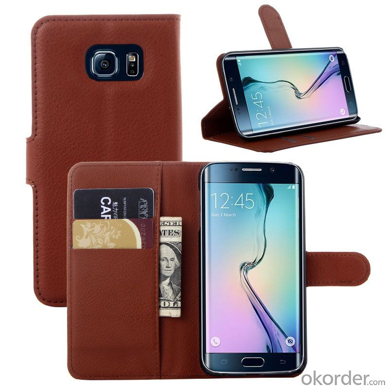 Hot Selling Mobile Phone Leather Case for Samsung Galaxy S6