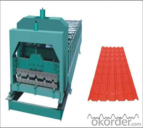 Steel Tile Roll Forming Machine in Good Use