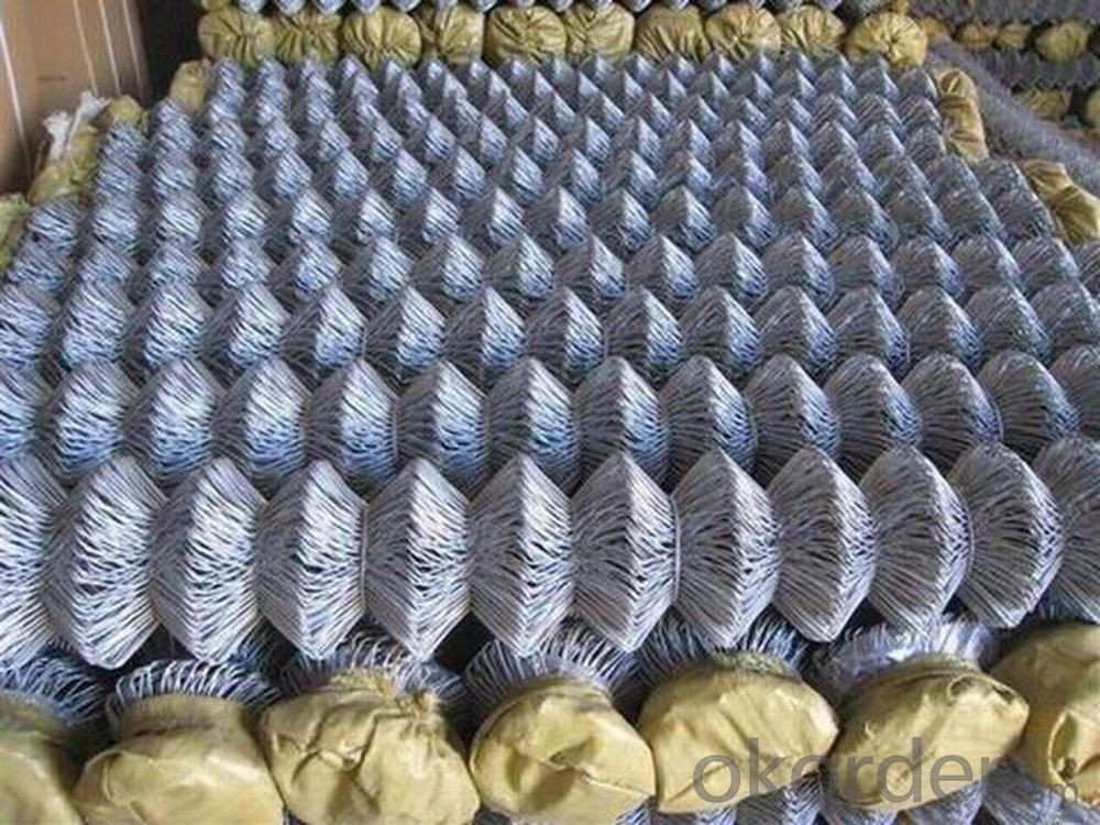 Buy Low Carbon Steel Wire Chain Link Fence Price Size