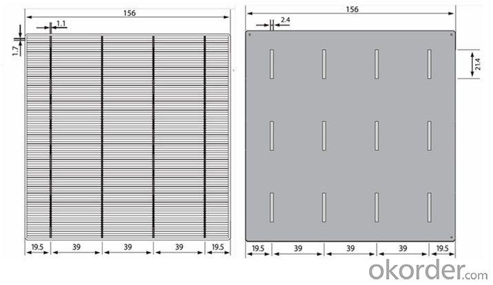 Polycrystalline Silicon Solar Cells 125x125MM