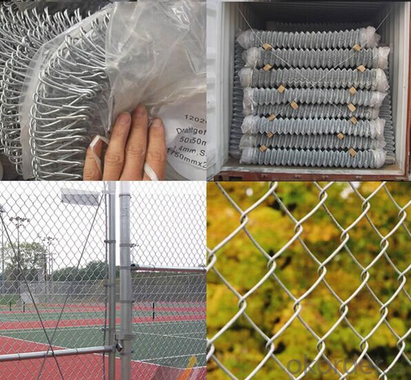 Hot-dipped Galvanized  Chain  Link Wire Mesh Fence