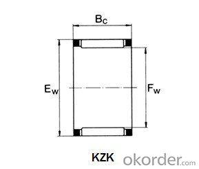 Rod-used needle roller cage assembly bearing KZK KBK