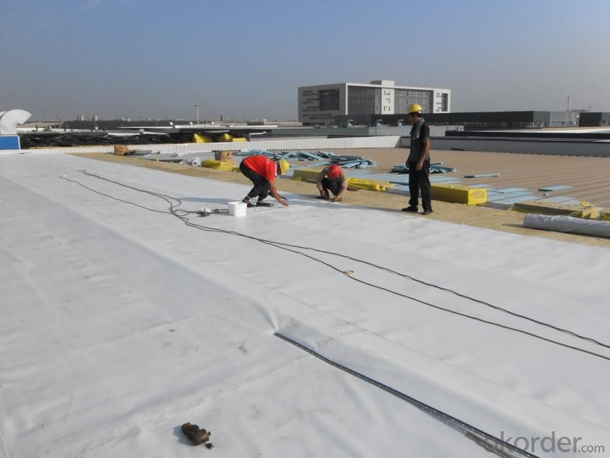 PVC Waterproofing Sheets with Fiberglass Reinforcement in Color Grey