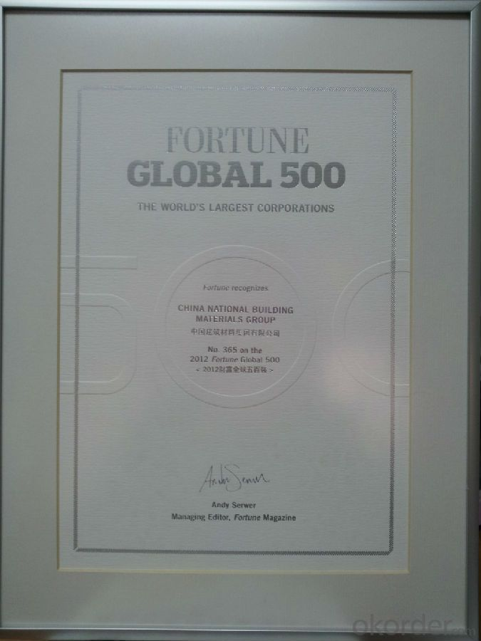 CNBM 2012GLOBAL FORTUNE 500