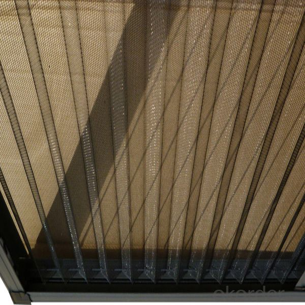 Polyester pleated mesh/Plisse insect screen mesh/Fiberglass pleated mesh