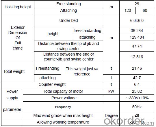 Tower Crane of Jing Kui Model Number QTZ40(4708)