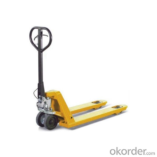 Hand Pallet Truck  Low Pricewith Scales Rubber Wheel