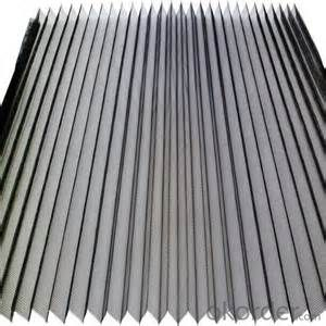 Black Gray Plisse Insect Screen Mesh/Mosquito Fly Screen Mesh/Fiberglass Insect Mesh/Pleated Mesh
