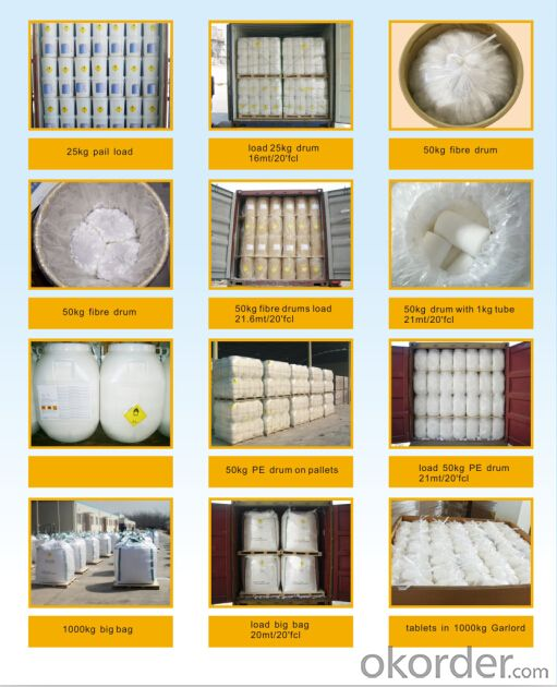 SDIC In Water Treatment Chemicals by Granular Tablets Powder