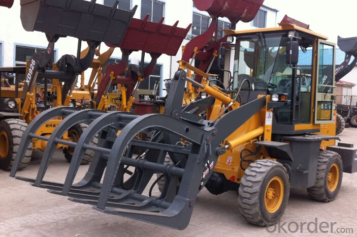 XD912G 1.0T Grass Sugarcane Grapple Wheel Loader