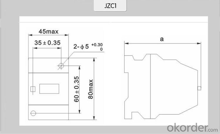 thermal overload protection relays JZC1-71.80  thermal relays magnetic overload relay overload relay