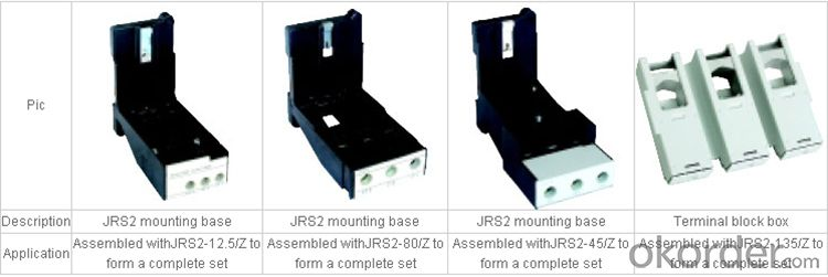 JRS2 series of thermal relay electrical contactors and relays electronic overload relay