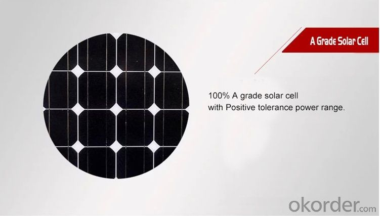 Power 185WP 6 Inch Monocrystaline Solar Panel
