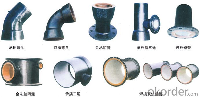 Ductile Cast Iron Pipe Fitting All Flanged Tee DN40 B125 Bitumen Coating