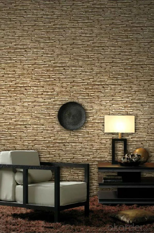 PVC Wallpaper 2015 High Quality Fast Installation Eco-friendly 3d PVC Bamboo Design Wallpaper
