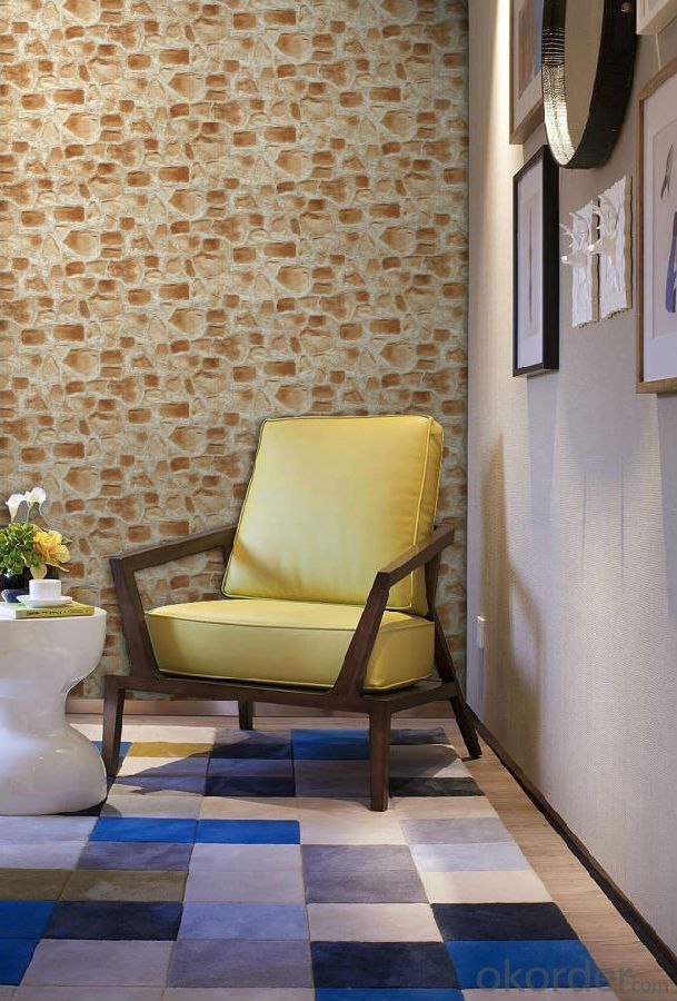 PVC Wallpaper 3d Brick Design Waterproof Vinyl Wallpaper For Bathroom Decoration